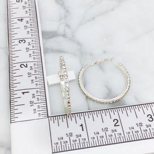 Cherryl's Jewelry - Rhinestone Hoop Earrings
